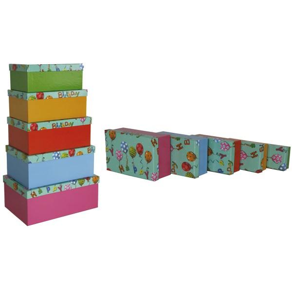 """Geschenkboxen """"Happy Birthday"""" 10er Set"""