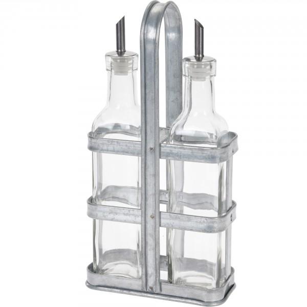 Öl- und Essig Spender aus Glas