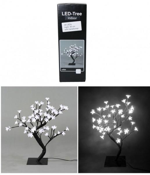 LED Baum mit 48 Lampen, H 45 cm, weiss
