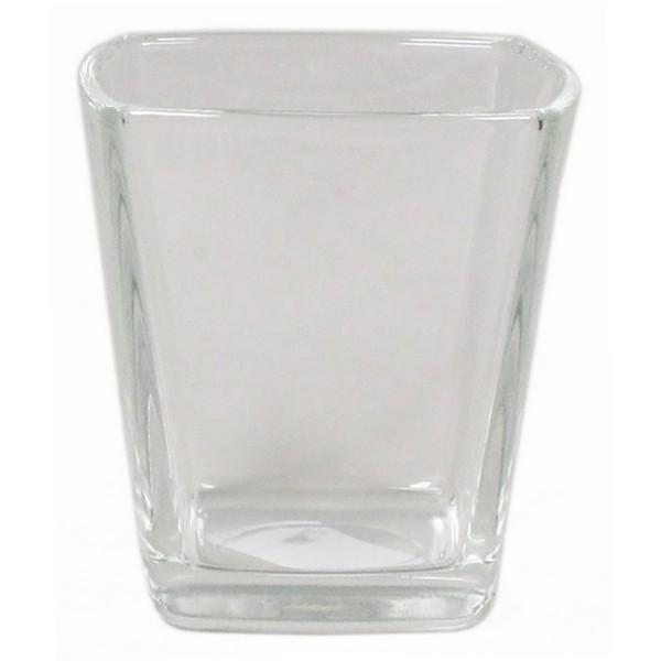 18 x Teelichter Windlichter Vasen konisch H 7 cm