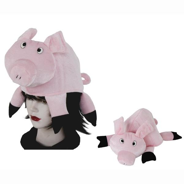 """Karnevalshut """"Schwein"""" 38 x 32 cm"""