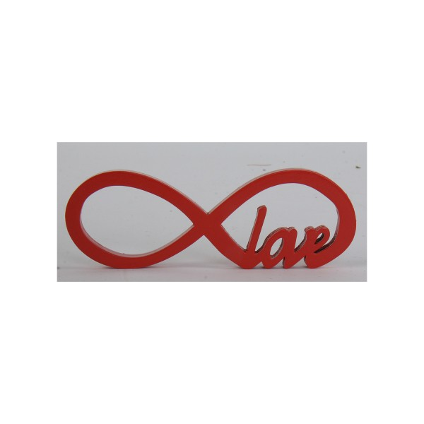 "Holzschrift 3D ""Infinity-Love""aus Holz L 15 cm"