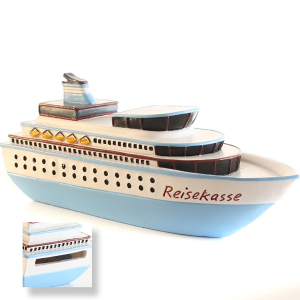 "Spardose ""Kreuzfahrtschiff"" L 15,5 cm"