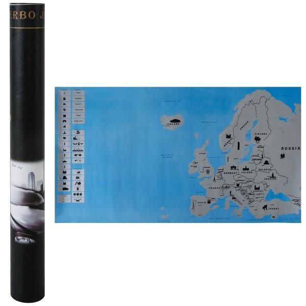 Wanddeko Rubbel-Europakarte 80 x 45 cm