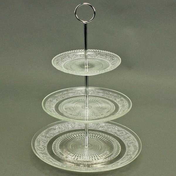 Etagere aus Glas H 36 cm