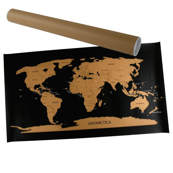 "Wanddeko ""Rubbel-Weltkarte"" 80 x 45 cm"