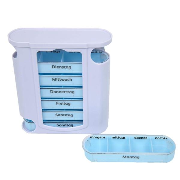 Pillenbox für sieben Tage mit jeweils vier Fächern