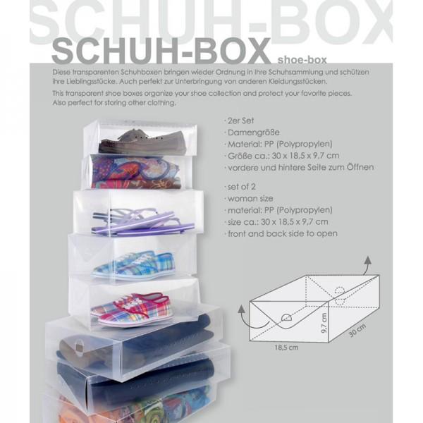 Schuh-Boxen 2er Set, für Damengrößen