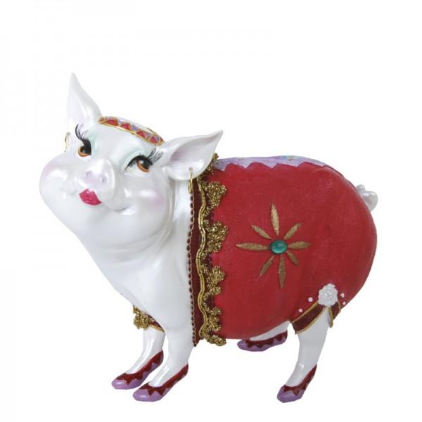 """Sparschwein """"Lady Piggy"""" rot mit Stern, 17 cm"""