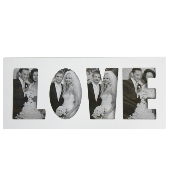 """Fotorahmen """"LOVE"""" aus Holz, L 45 cm"""