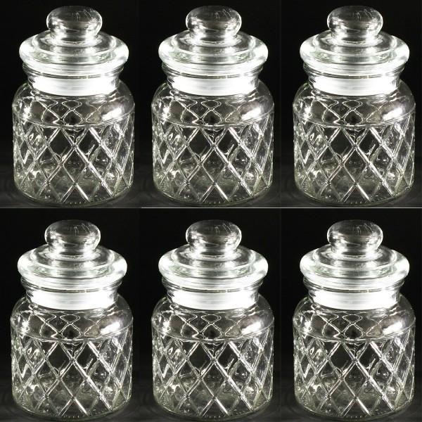 Vorratsgläser - Glasdosen 6-tlg. Set H 15 cm