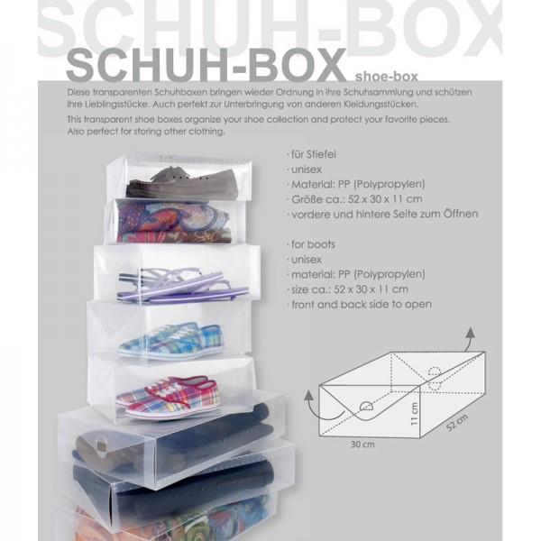 Schuh-Box transparent für Stiefel