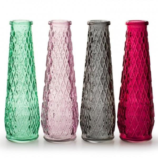 """Deko-Flasche """"Rachel"""" aus Glas H 22 cm oder 25 cm"""