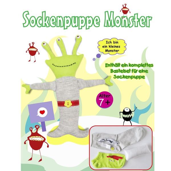"""Bastelset Socken-Puppe """"Monster"""""""