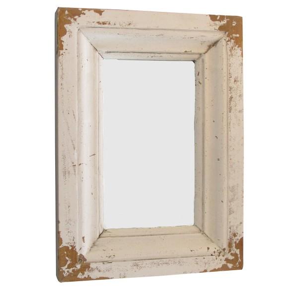 Spiegel aus Antikholz im Retro-Look H 36 cm