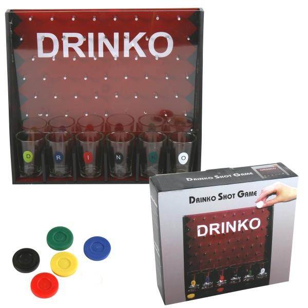 Drinko Trinkspiel mit 6 Gläsern und Chips