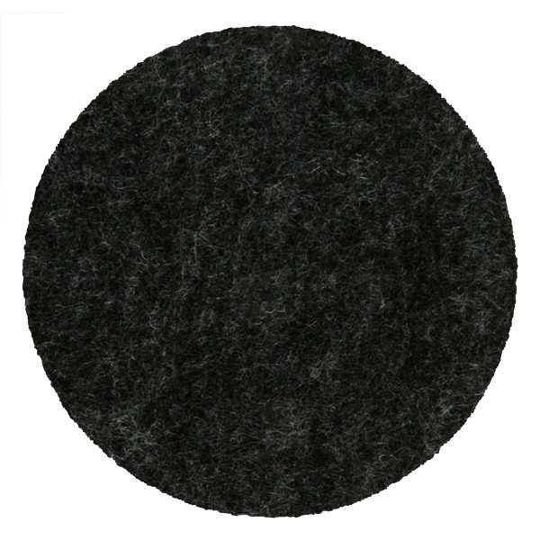 8 x Glasuntersetzer aus Filz, dunkelgrau Ø 10 cm