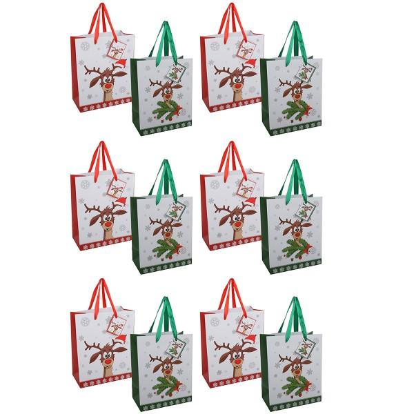 """12 x Geschenktüten """"Didi"""" aus Papier H 23 cm"""