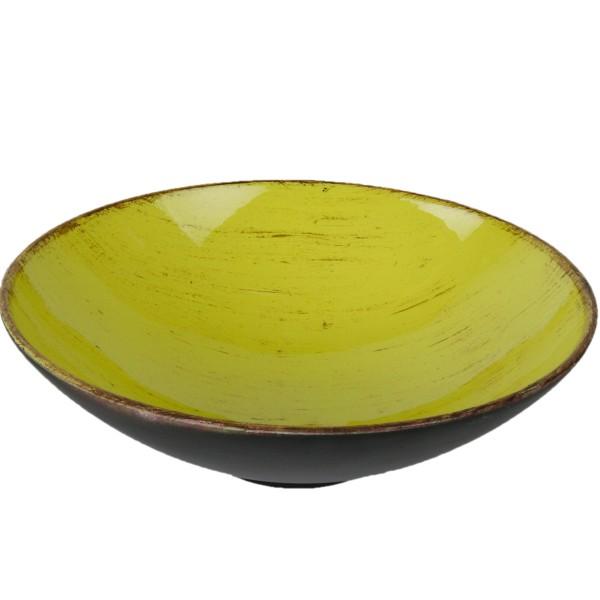 Dekoschale aus Kunststoff, lemon Ø 25 cm