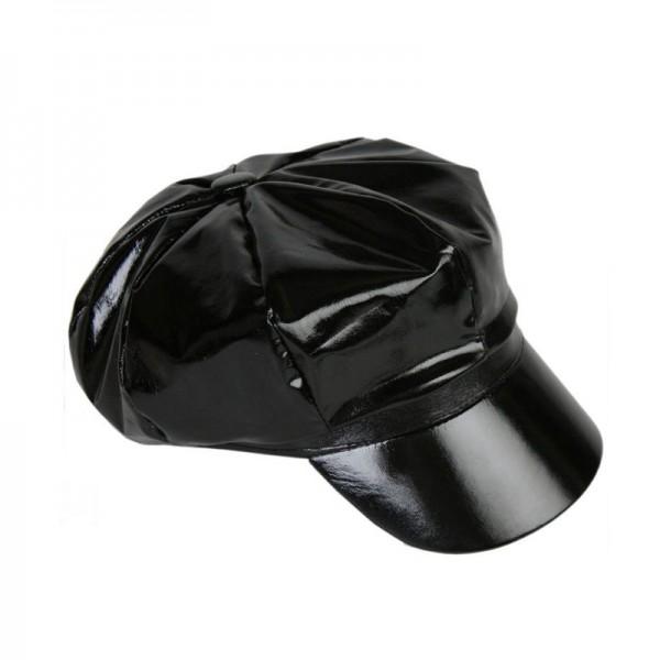 Schirmcap Lackfashion, schwarz