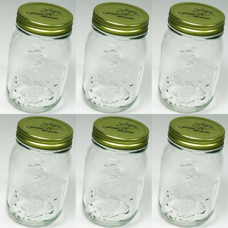 6 vorratsgl ser mit deckel 500 ml einmachgl ser marmeladenglas einweckglas glas 4038732300194 ebay. Black Bedroom Furniture Sets. Home Design Ideas